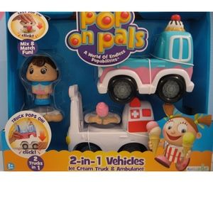 Pop on Pals 2-in-1 Ice Cream Truck & Ambulance NIB